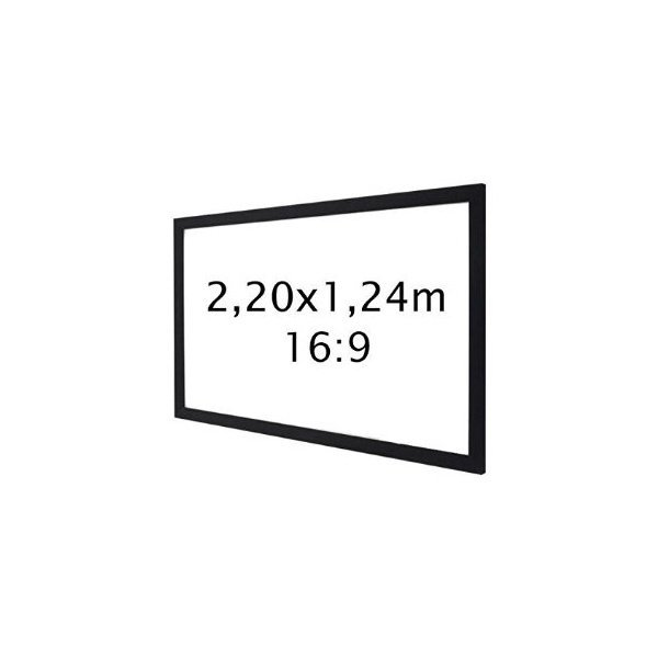 auditorium 26 ecran de projection cadre 220 x124 format 16 9 ecran de projection. Black Bedroom Furniture Sets. Home Design Ideas