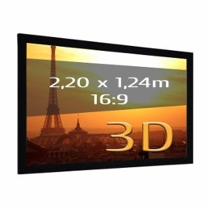 Auditorium 26 Projection screen frame 220 x 124m format 16: 9 3D fabric
