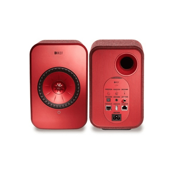 KEF LSX Wireless ROUGE (paire)